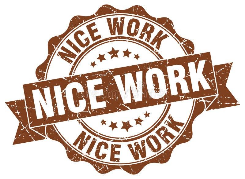 Het werkzegel van Nice royalty-vrije illustratie