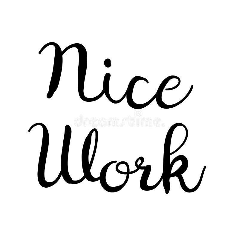 Het werkzegel van Nice op wit royalty-vrije illustratie