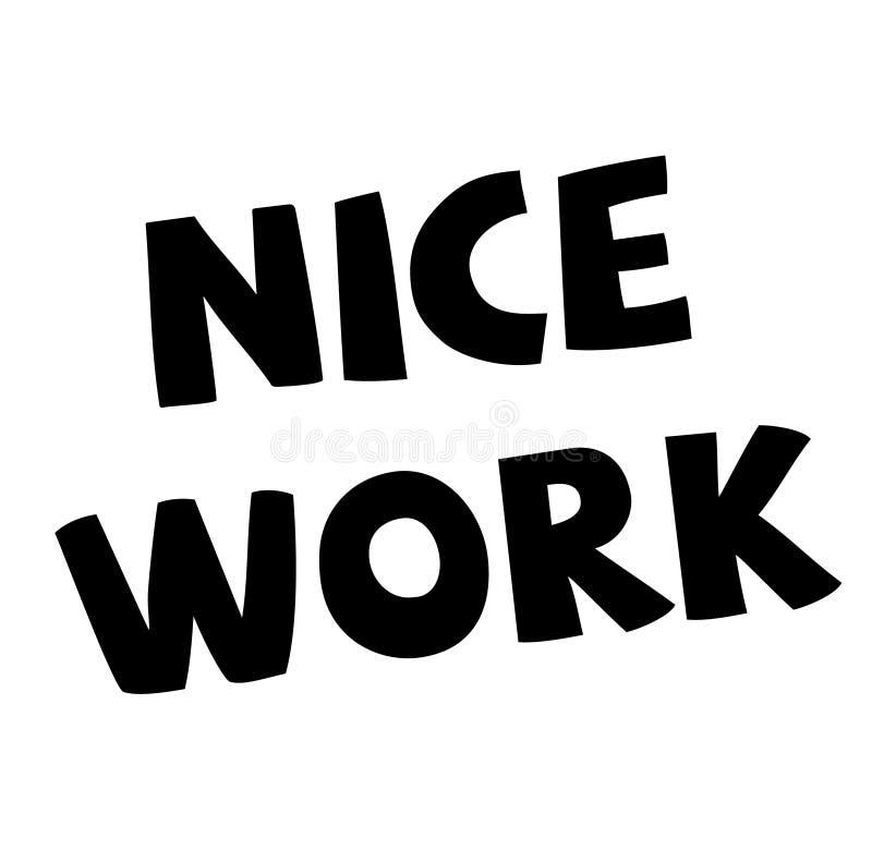 Het werkzegel van Nice op wit vector illustratie
