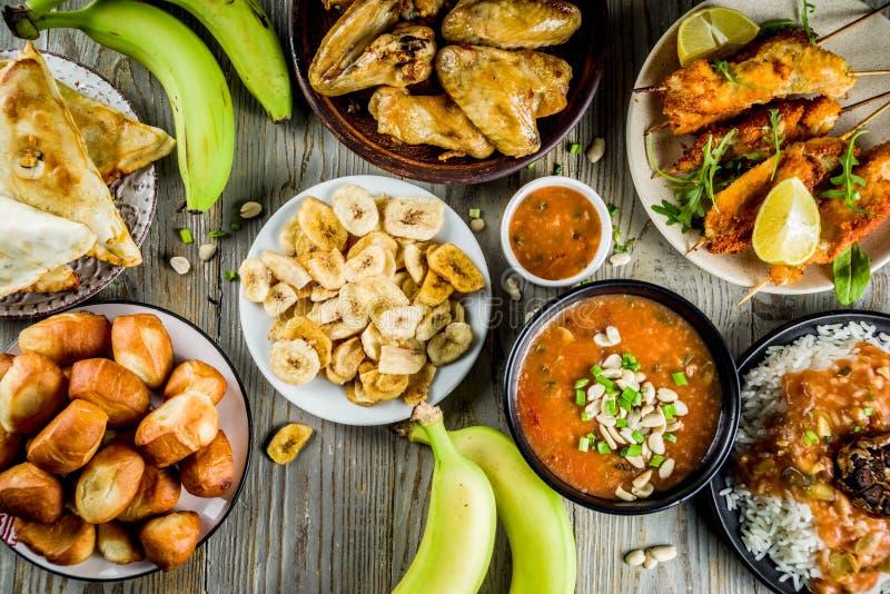 Het westen - Afrikaans voedselassortiment stock foto