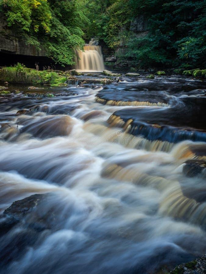 Het westen Burton Waterfalls Cauldron Falls stock afbeelding