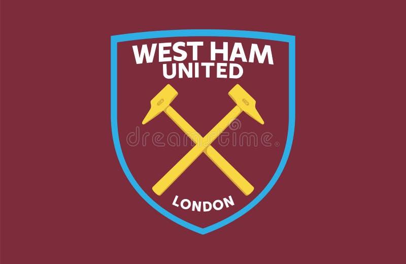 Het westen Ham United royalty-vrije illustratie