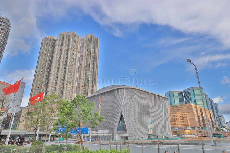 het westen Kowloon de stad in in Hong Kong 2018 stock fotografie