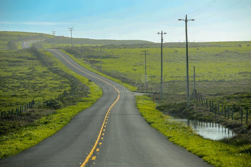 Het westen Marin County Backroads, Tomales-Baai royalty-vrije stock afbeelding