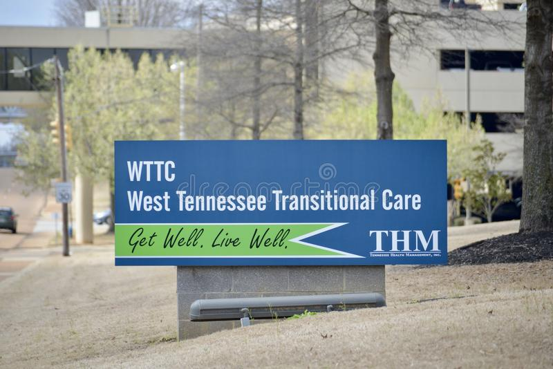 Het westen Tennessee Transitional Care, Jackson Tennessee royalty-vrije stock foto's
