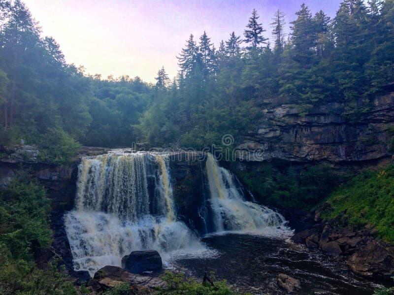 Het westen Virginia Water Fall stock afbeelding