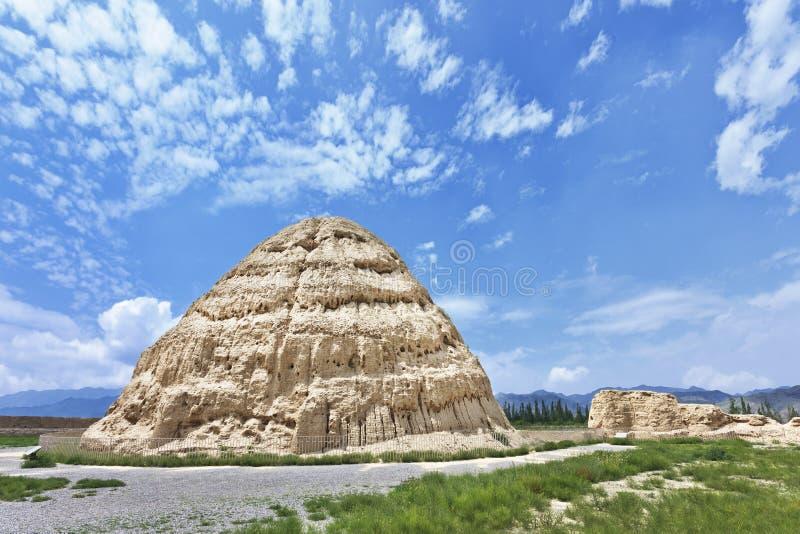 Het westen Xia Imperial Tombs in Yinchuan, Ningxia-Provincie, China royalty-vrije stock fotografie