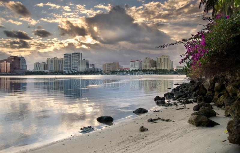 Het het Westenpalm beach van de binnenstad Florida royalty-vrije stock fotografie