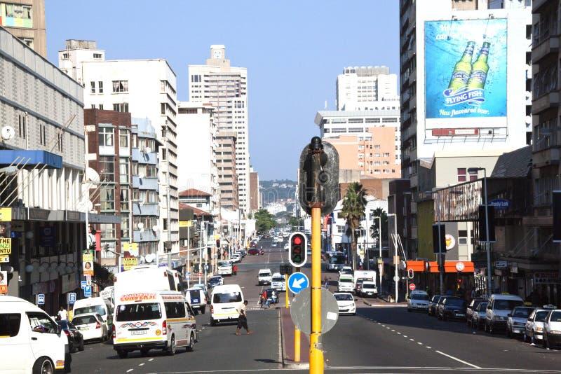 Het westenstraat in Durban Zuid-Afrika stock foto's