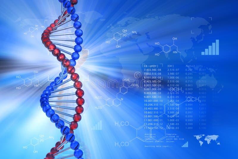 Het wetenschappelijke concept van de genetische biologie royalty-vrije illustratie