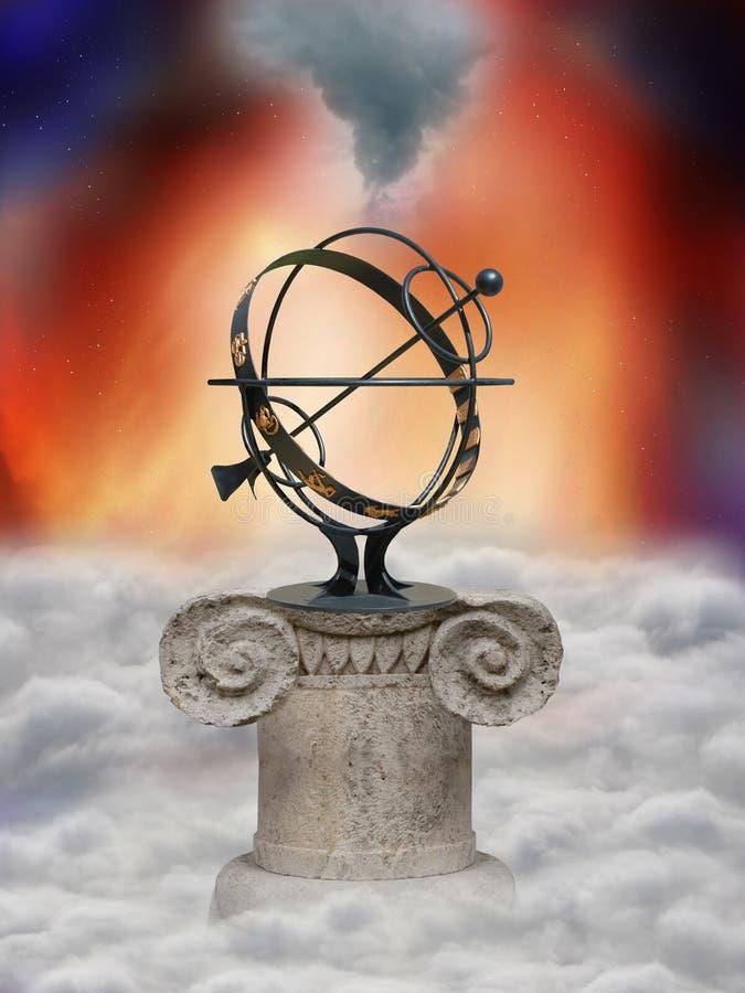 Het wiel van de astrologie royalty-vrije illustratie