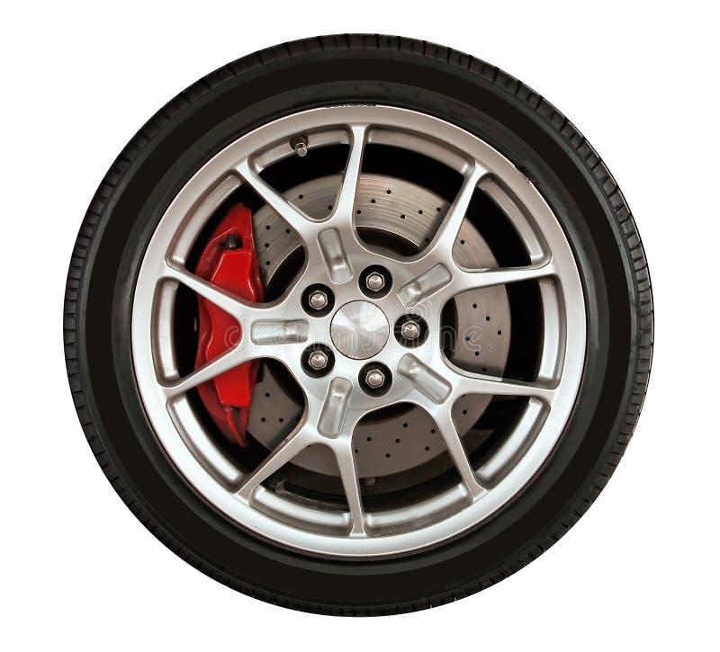 Het wiel van de auto