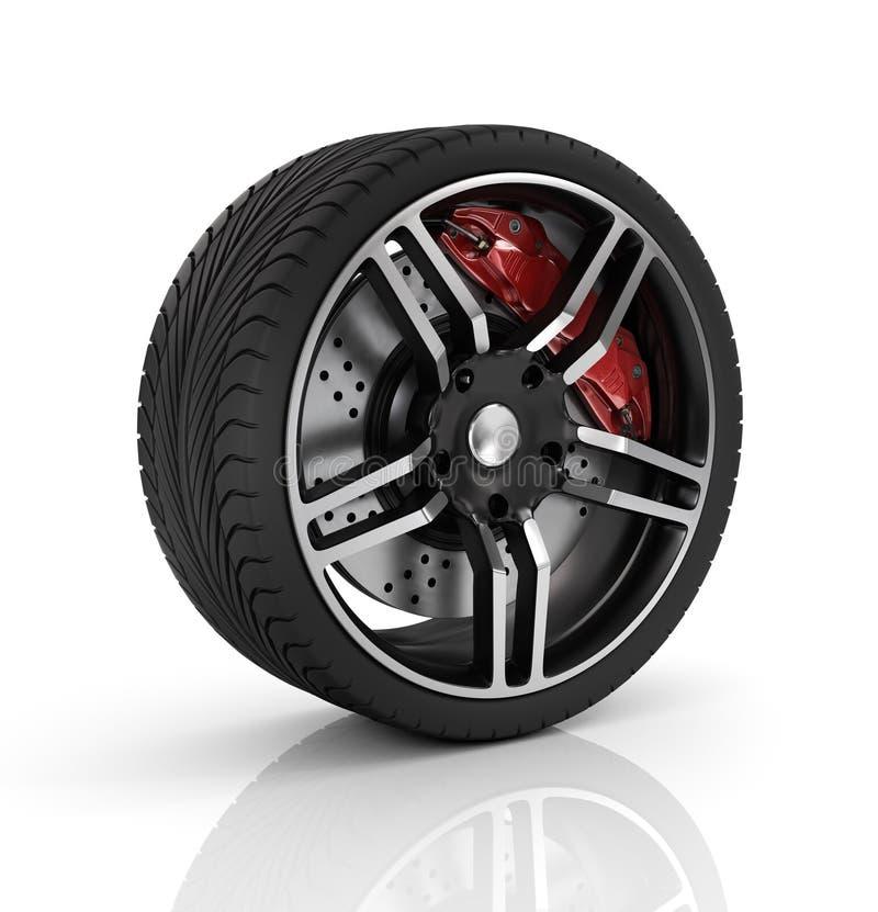 Het wiel van de auto royalty-vrije illustratie