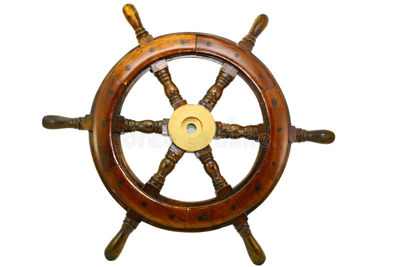 Het wiel van de boot royalty-vrije stock afbeeldingen