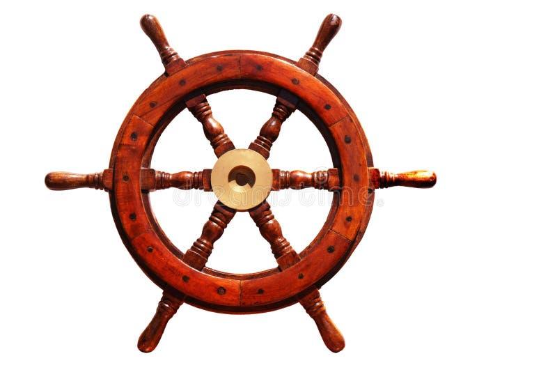 Het wiel van de boot royalty-vrije illustratie