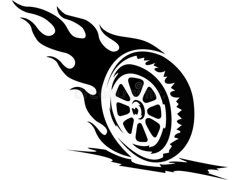 Het wiel van de brand stock illustratie