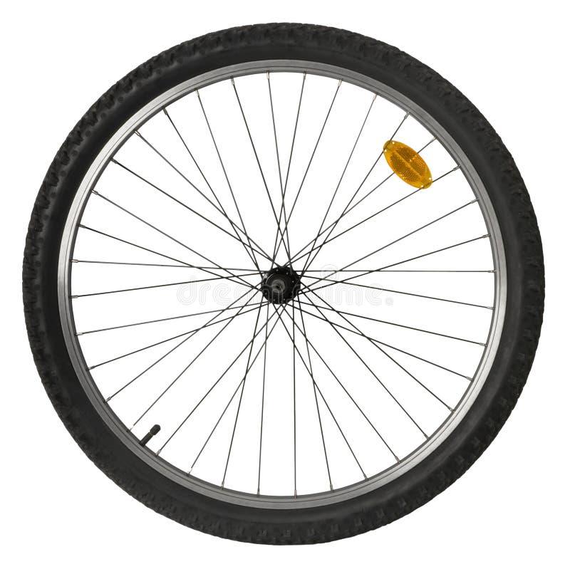 Het wiel van de fiets royalty-vrije stock afbeelding