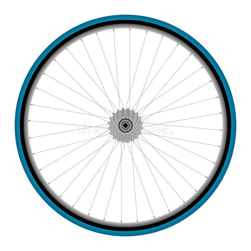 Het wiel van de fiets royalty-vrije illustratie