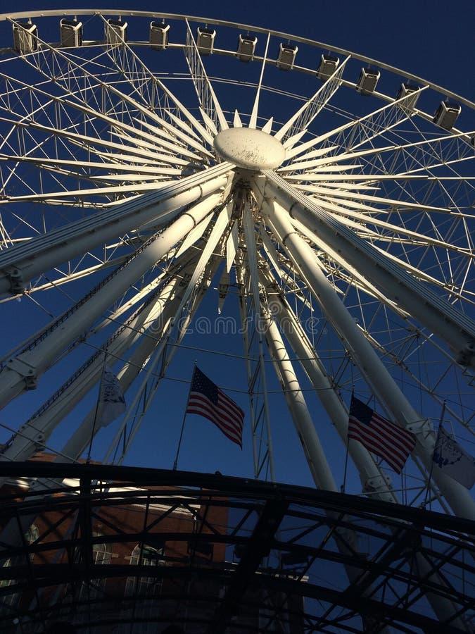 Het wiel van de het Wielhemel van Atlanta Farris stock afbeeldingen