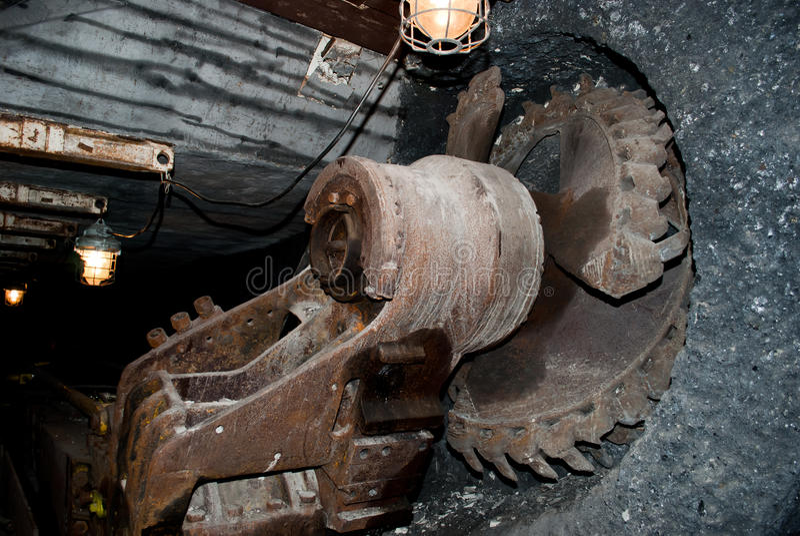 Het wiel van de mijnbouw royalty-vrije stock foto's