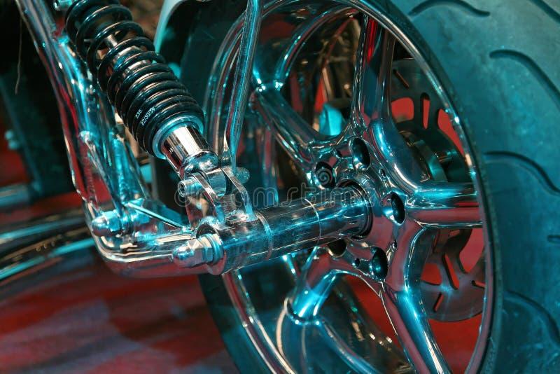 Het wiel van de motorfiets royalty-vrije stock afbeelding