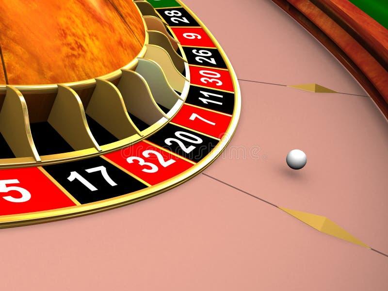 Het wiel van de roulette stock illustratie