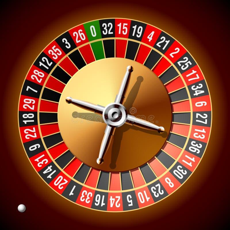 Het wiel van de roulette. Vector. royalty-vrije illustratie