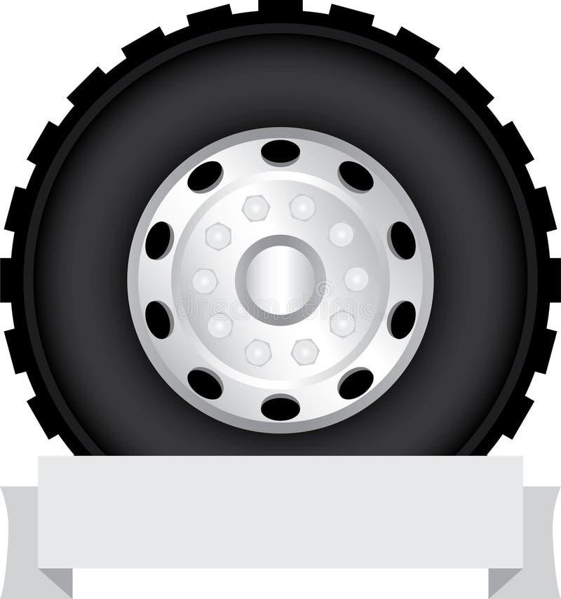 Het wiel van de vrachtwagen vector illustratie