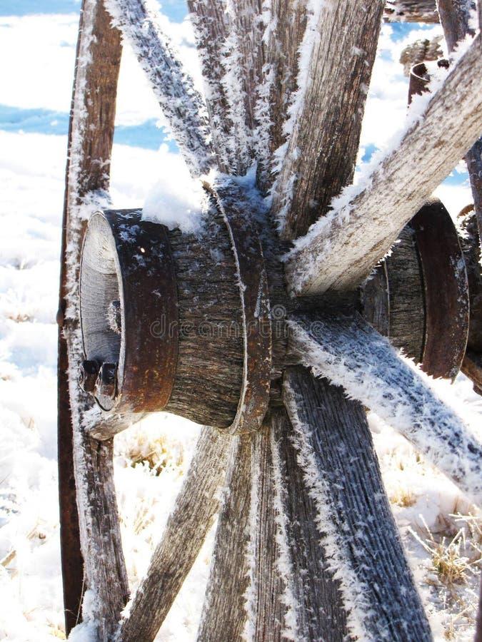Het wiel van de wagen stock afbeelding