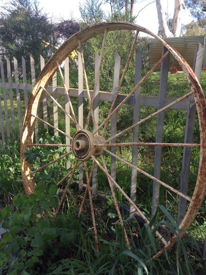 Het wiel van de wagen royalty-vrije stock afbeelding