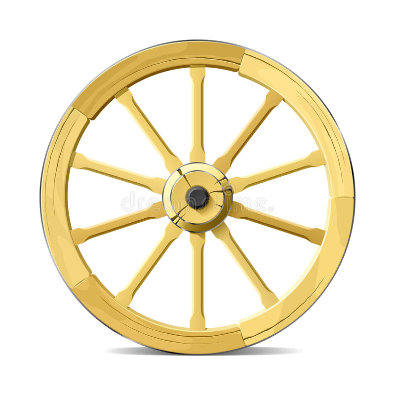 Het wiel van de wagen. Vector illustratie. stock illustratie