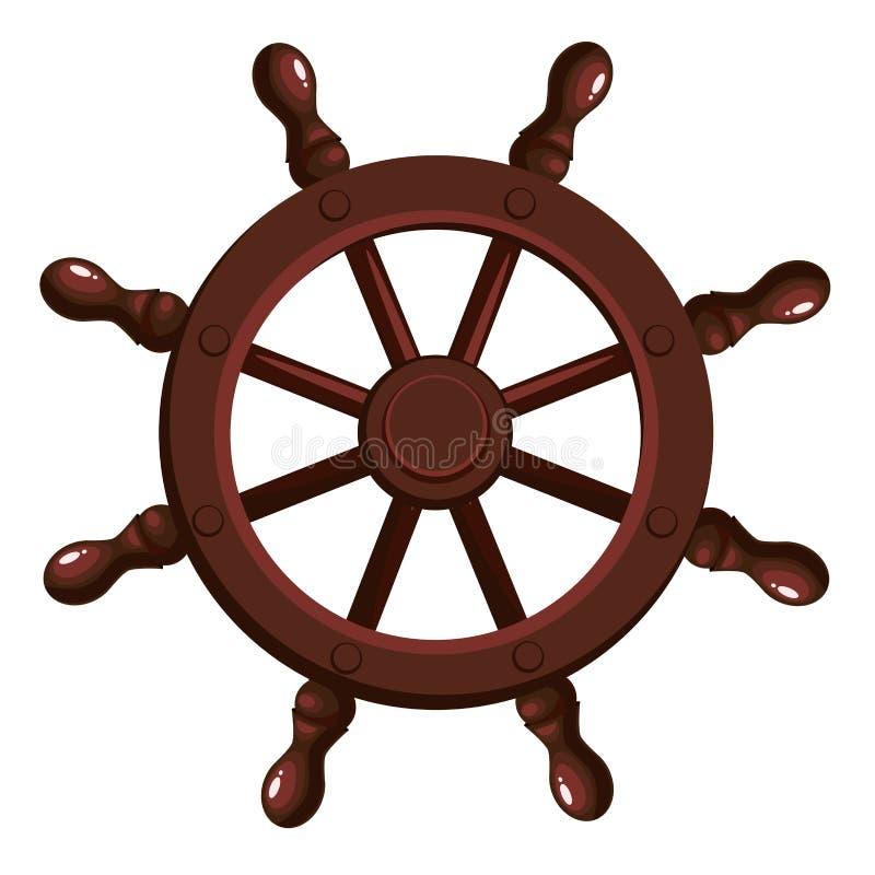 Het wiel van het beeldverhaalschip ` s vector illustratie