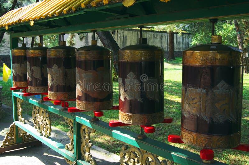 Het wiel van het gebed in Tibetan klooster van het Boeddhisme Chengde royalty-vrije stock afbeeldingen