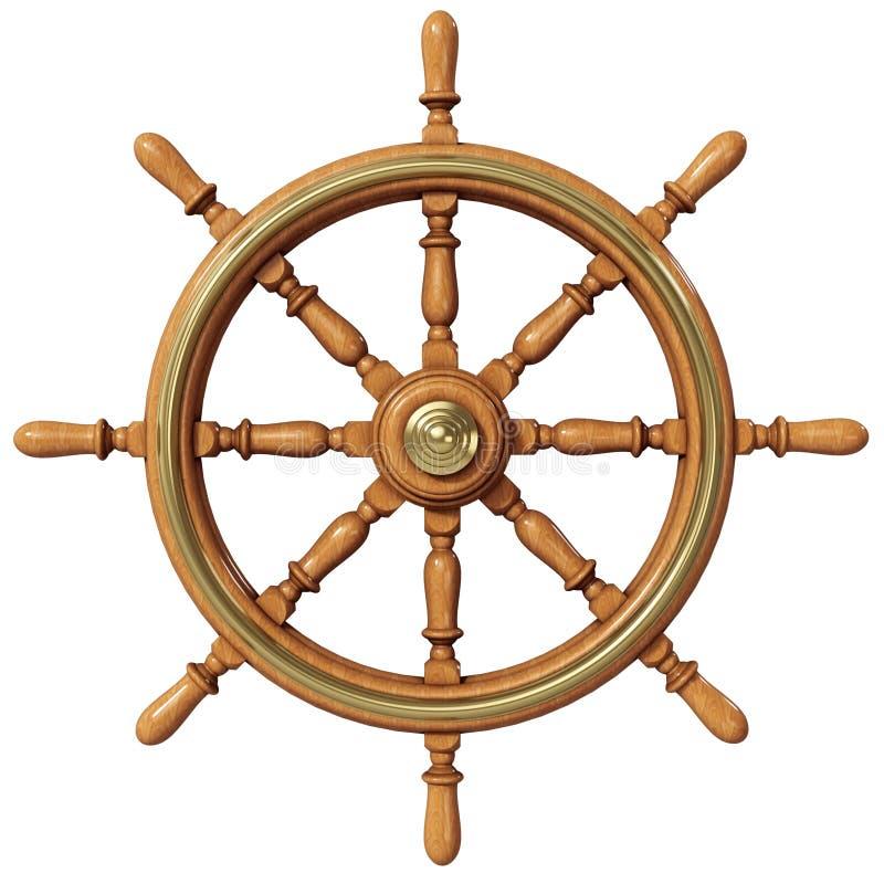 Het wiel van het schip stock illustratie