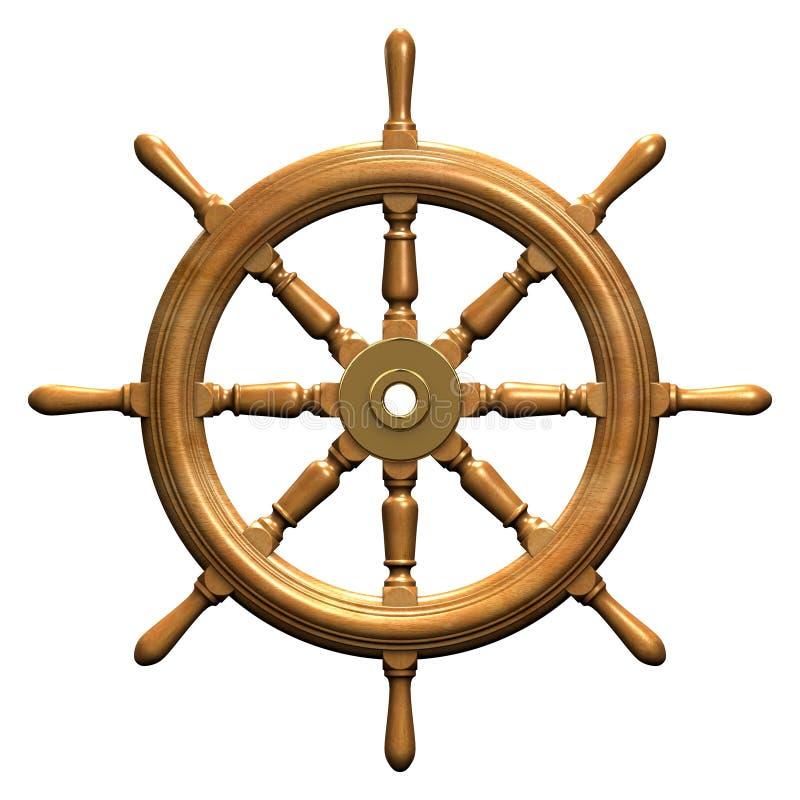 Het wiel van het schip vector illustratie