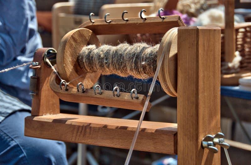 Het wiel van Spining stock foto's