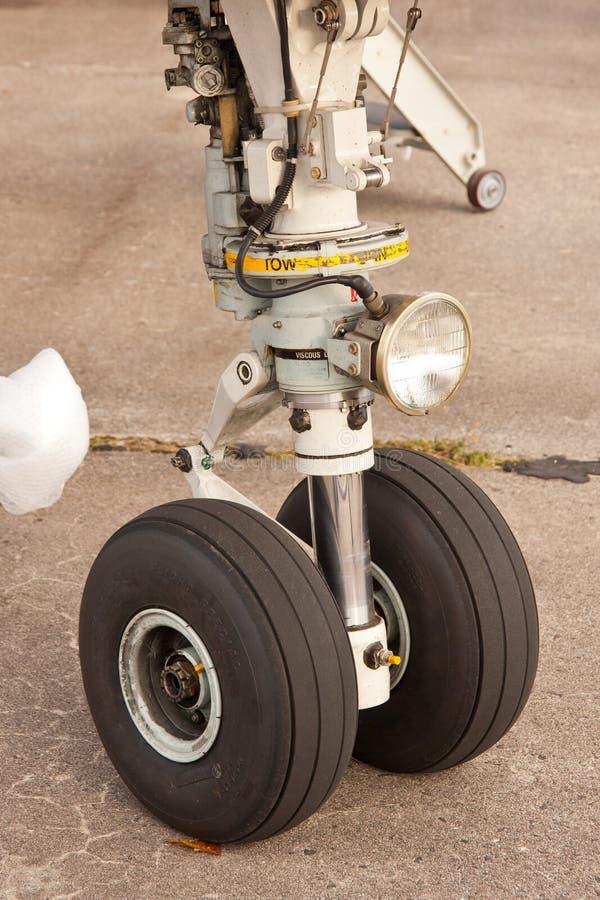 Het wiel van vliegtuigen stock afbeeldingen