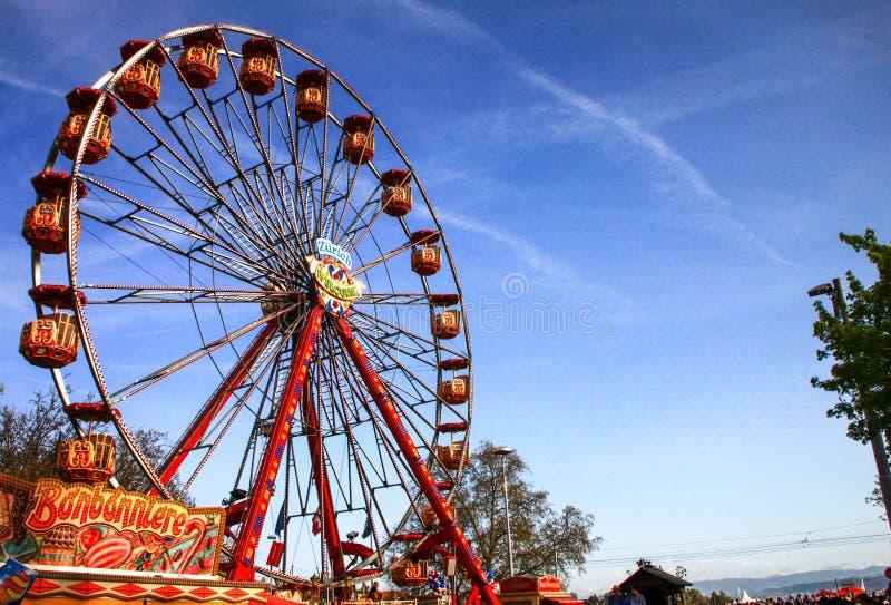 Het wiel van Zürich stock afbeeldingen
