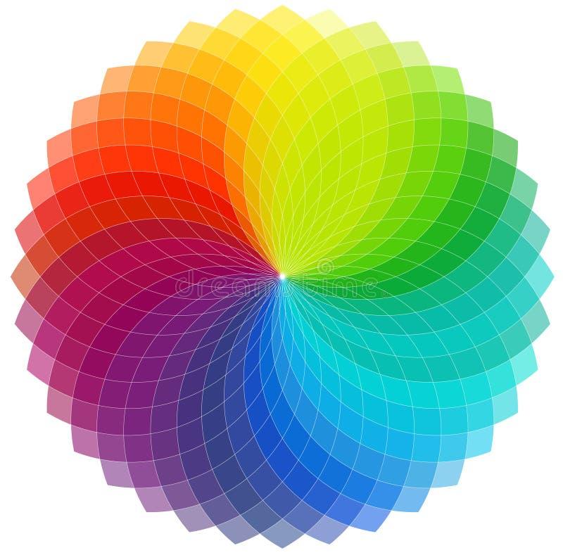 Het wielachtergrond van de kleur stock illustratie