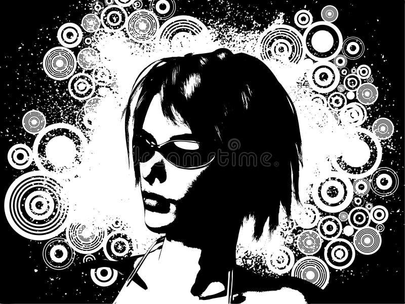 Het wijfje van Grunge royalty-vrije illustratie
