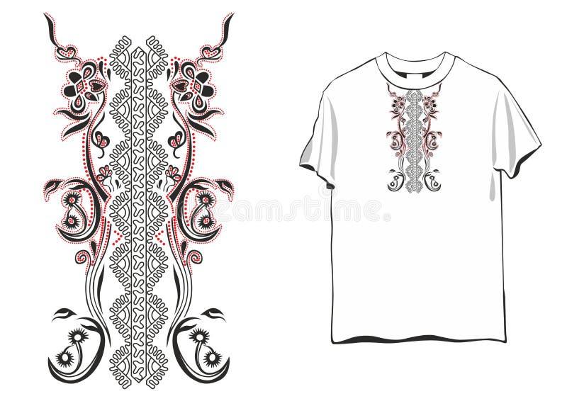 Het wijfje van het t-shirtornament vector illustratie