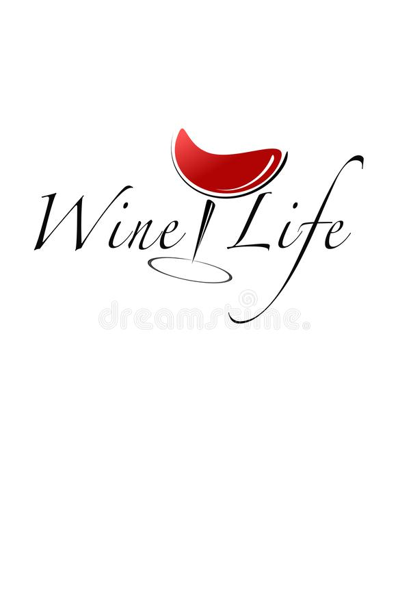 Het wijnleven vector illustratie