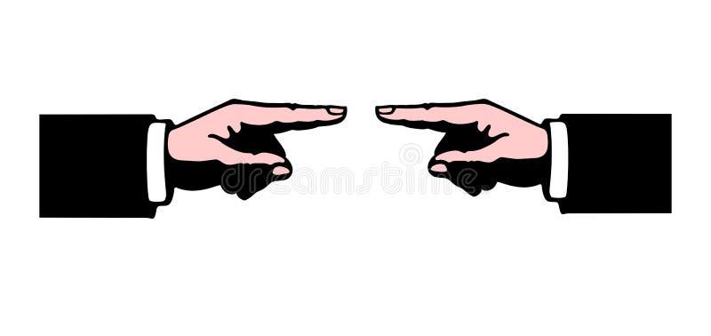 Het wijzen in tegenovergestelde richtingen vector illustratie