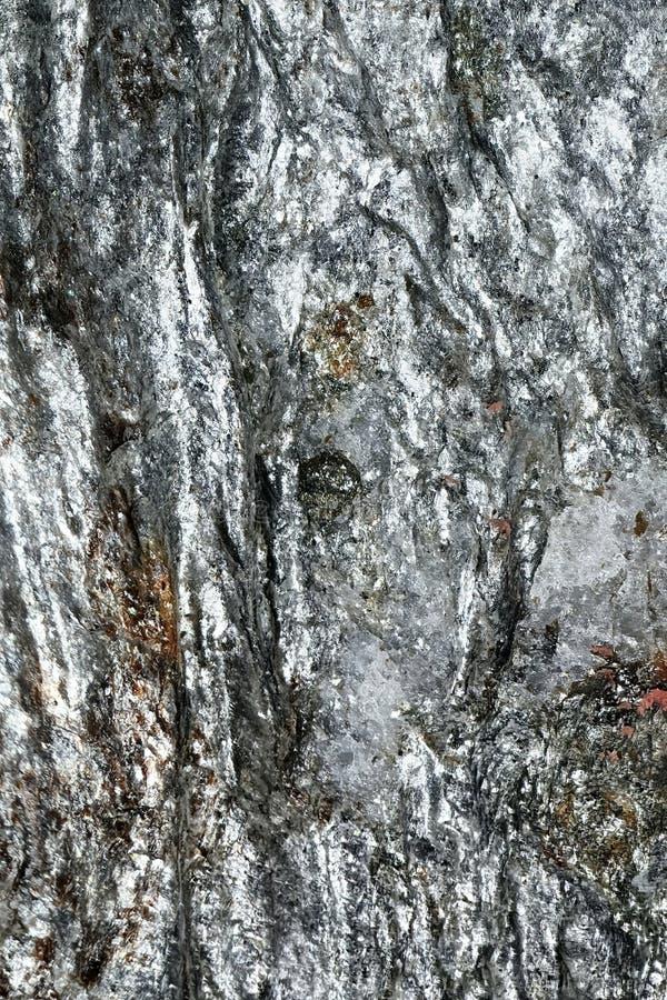 Het wijzen van op Oppervlakte van gebroken Mineraal royalty-vrije stock foto's
