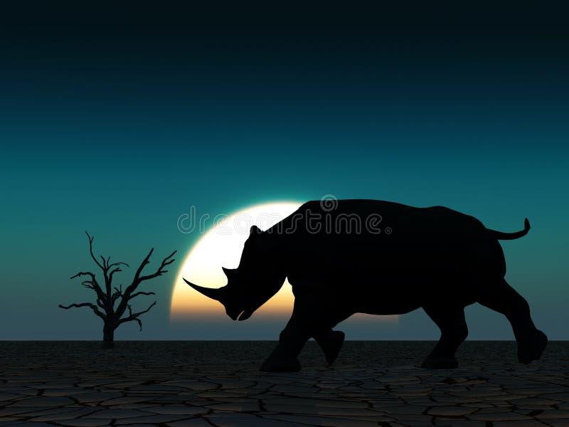 Het Wild 22 van de rinoceros royalty-vrije stock afbeeldingen
