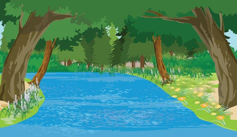 Het wild stock illustratie