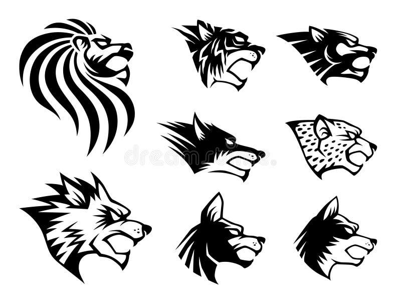 Het wilde Symbool van het Dier royalty-vrije illustratie
