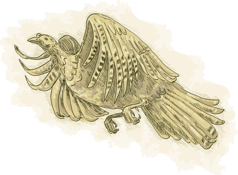 Het wilde vliegen van Turkije stock illustratie