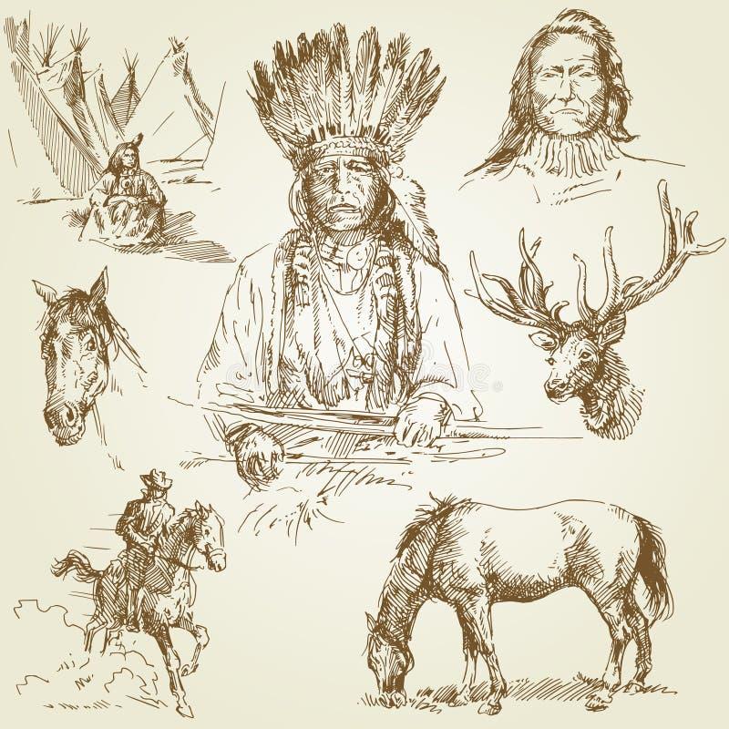 Het wilde westen royalty-vrije illustratie
