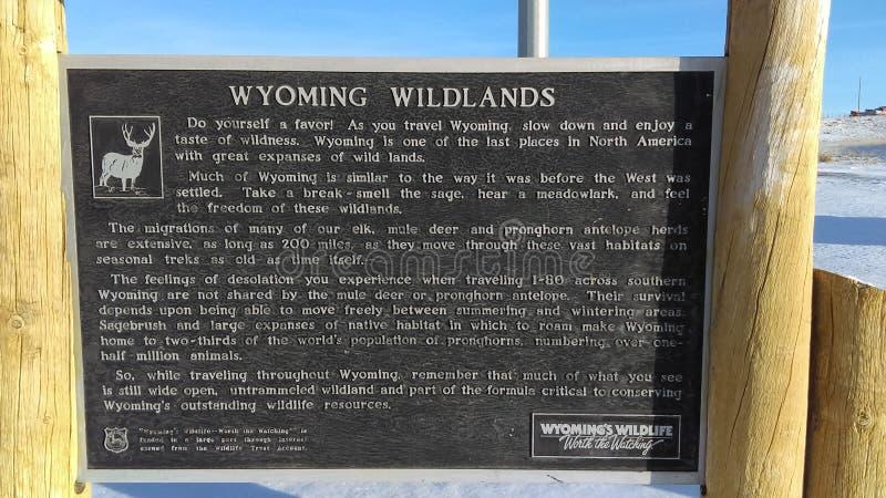 Het Wildplaque van Wyoming royalty-vrije stock foto's